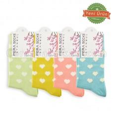 Bayan Lux Kalpli Çorap (12 Çift)