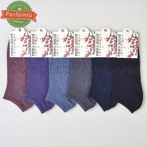 Bayan Kokulu Patik Çorap (12 Çift) (Parfümlü)