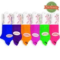 Bayan Mikrofiber Patik Çorap (12 Çift) (Neon Renklerde)