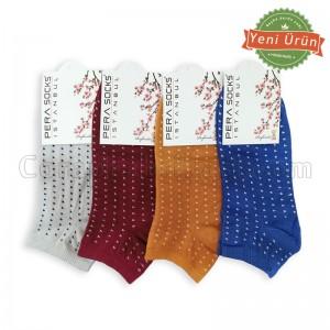 Bayan Noktalı Patik Çorap (12 Çift) (Parfümlü)
