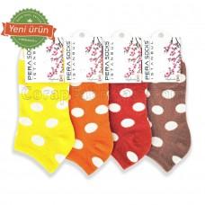Bayan Puanlı Patik Çorap (12 Çift)