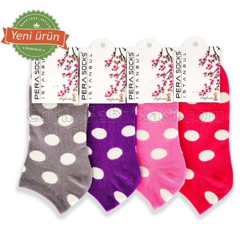 Bayan Puanlı Patik Çorap (12 Çift) (Parfümlü)