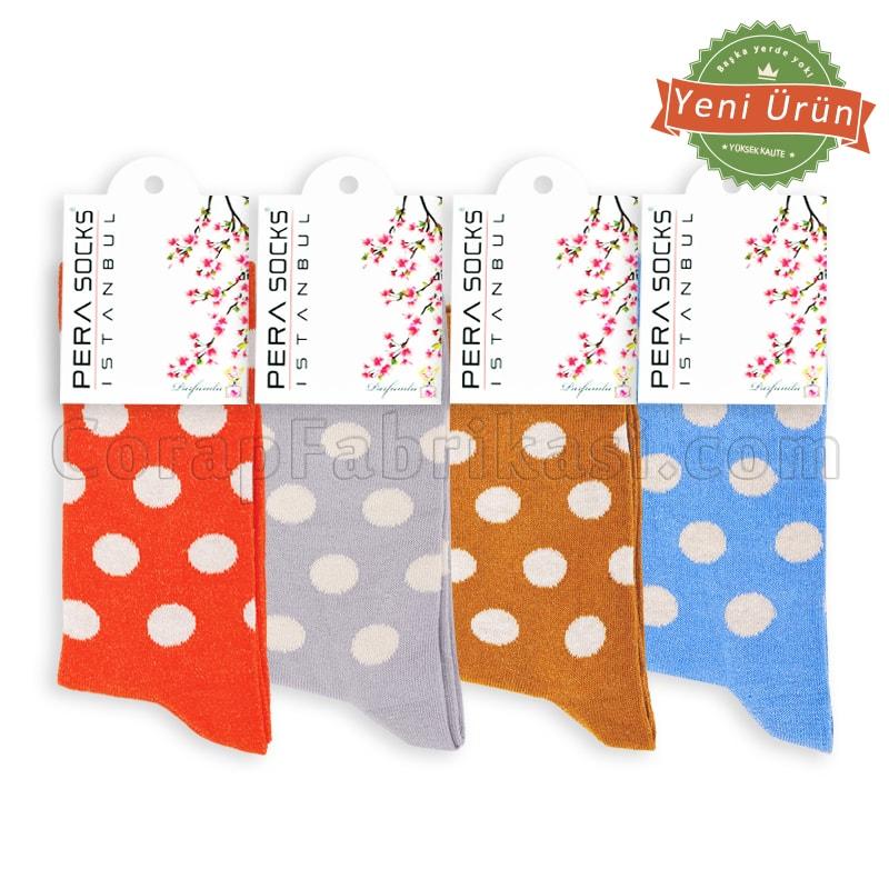 Bayan Lux Puanlı Çorap (12 Çift)
