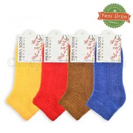 Bayan Kokulu Renkli Havlu Çorap (12 Çift)