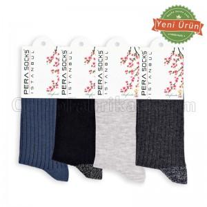 Bayan Simli Çorap (12 Çift) (Parfümlü)