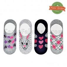 Bayan Desenli Babet Çorap (12 Çift)