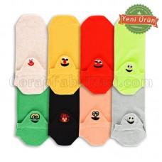 Bayan Emojili Patik Çorap (12 Çift)