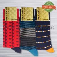 Erkek Renkli Penye Çorap (12 Çift)