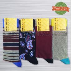 Erkek Renkli Çorap (12 Çift)