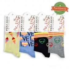 Bayan Soket Neşeli Çorap (12 Çift)