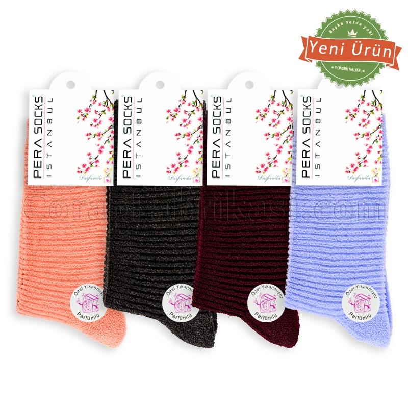 Bayan Kışlık Havlu Çorap (12 Çift) (Parfümlü)