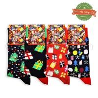 Desenli Yılbaşı Çorap (12 Çift)