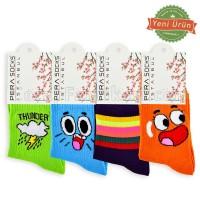Bayan Kolej Neşeli Çorap (12 Çift)