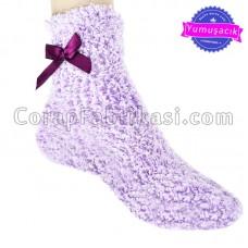 Bayan Renkli Peluş Çorap (12 Çift)