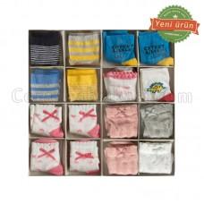 Bebek Lux Kutulu Çorap (4 Çift)