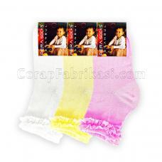 Çocuk Lux Dantelli Çorap (12 Çift)