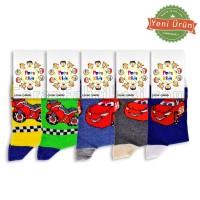 Çocuk Lux Desenli Çorap (12 Çift)