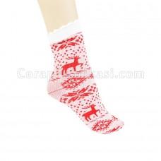 Bayan Peluş Uyku Çorap (12 Çift)