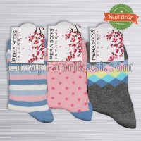 Bayan Desenli Lux Çorap (12 Çift)